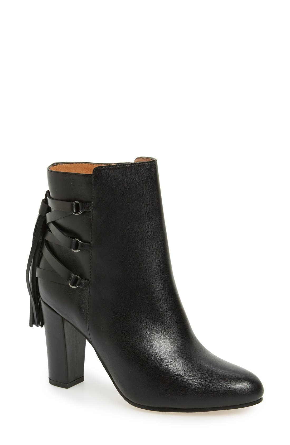 Main Image - Halogen® 'Sadee' Lace-Up Almond Toe Bootie (Women)
