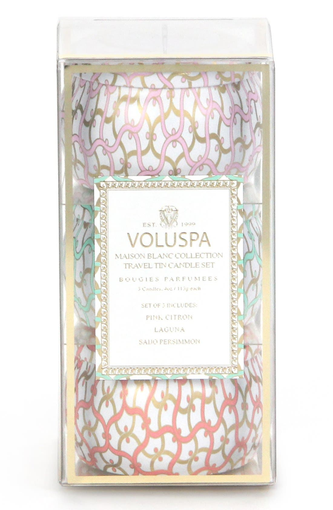 Alternate Image 1 Selected - Voluspa 'Maison Blanc' Mini Tin Candle Trio (Nordstrom Exclusive) ($24 Value)
