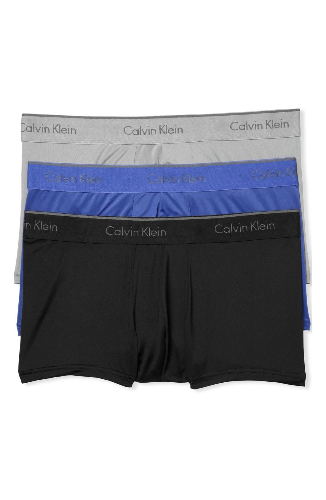 3-Pack Stretch Trunks,                         Main,                         color, Black/ Cobalt/ Grey