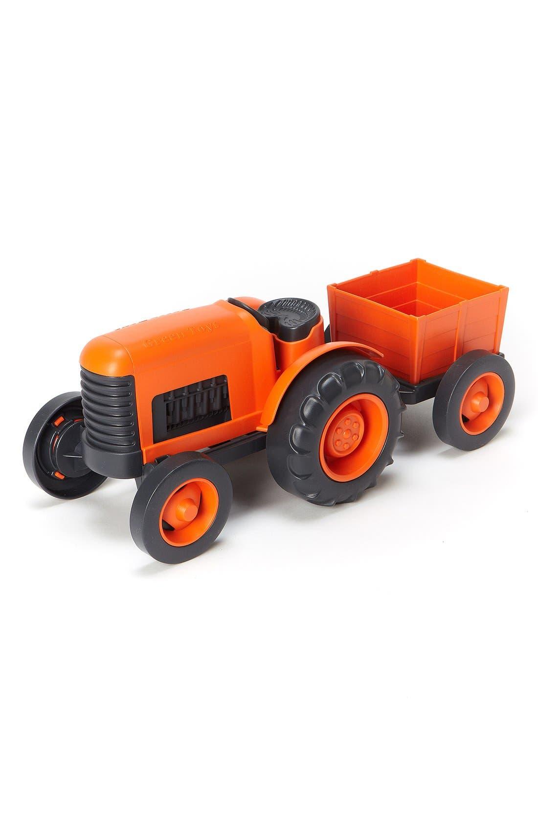 Toy Tractor Set,                             Main thumbnail 1, color,                             Orange