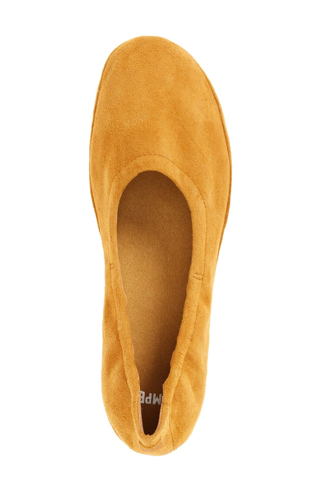 'Right Nina' Ballet Flat,                             Alternate thumbnail 3, color,                             Mustard Suede
