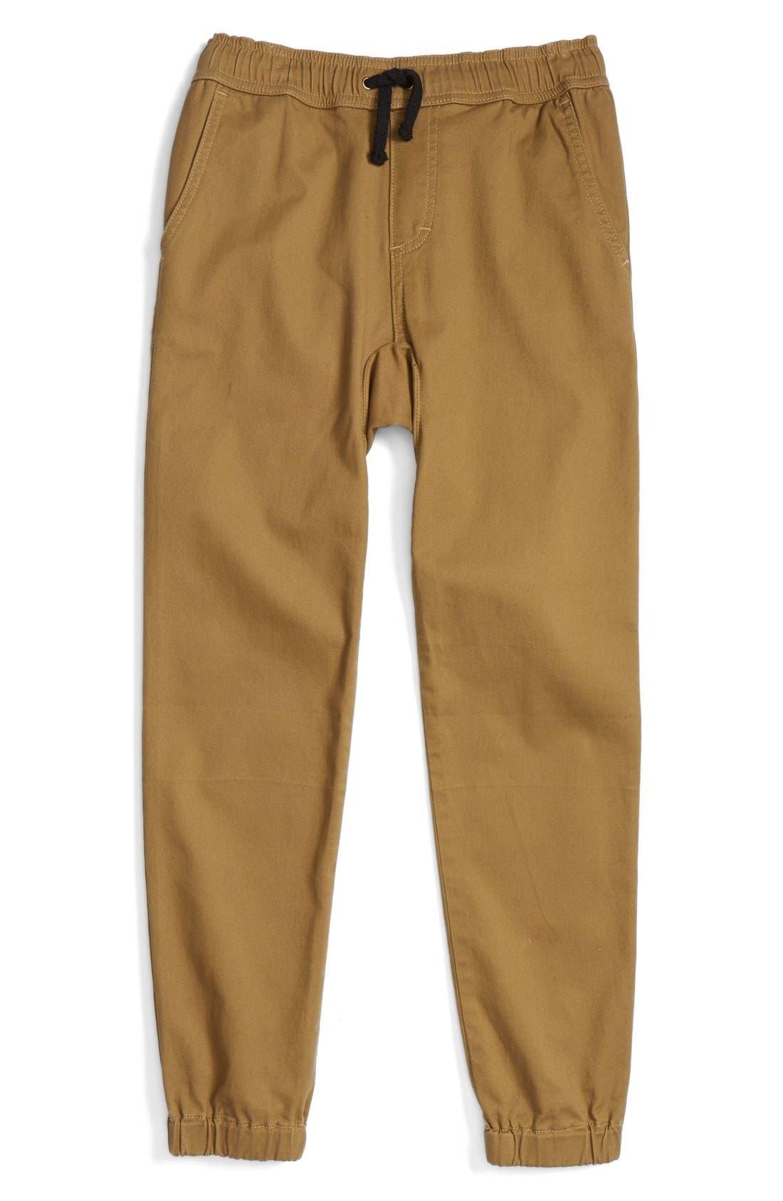 Woven Jogger Pants,                         Main,                         color, Tan Cumin