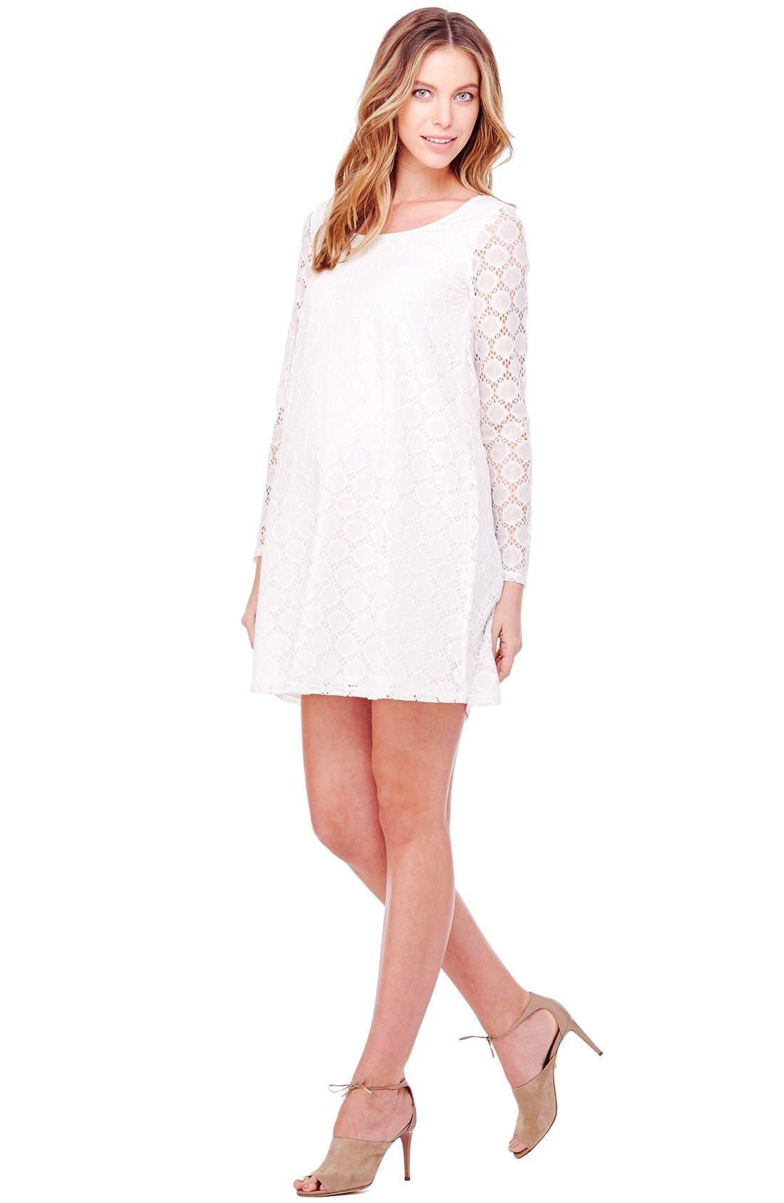 Alternate Image 3  - Ingrid & Isabel Dot Lace Maternity Dress