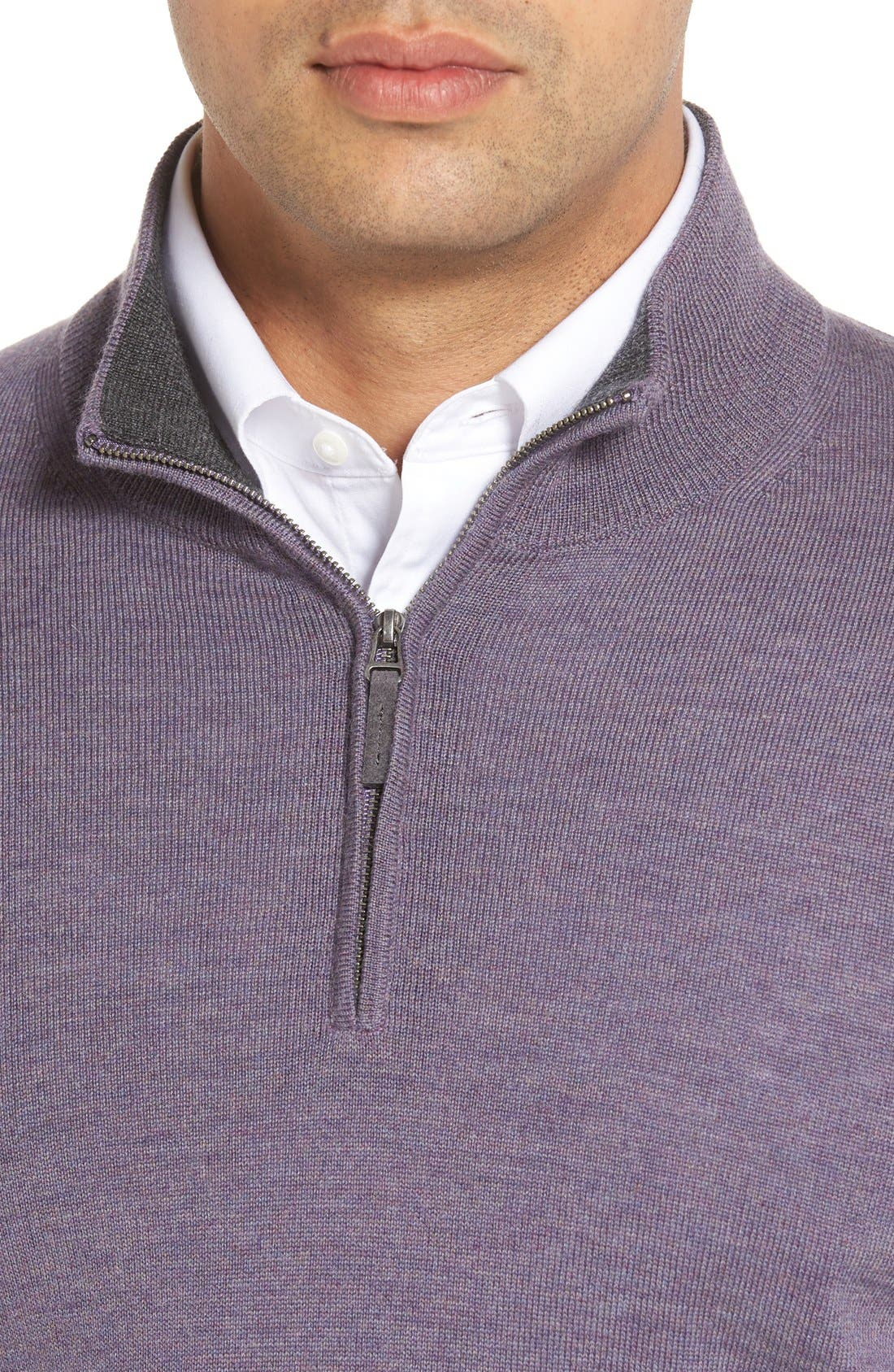 Alternate Image 4  - John W. Nordstrom® Merino Wool Quarter Zip Sweater