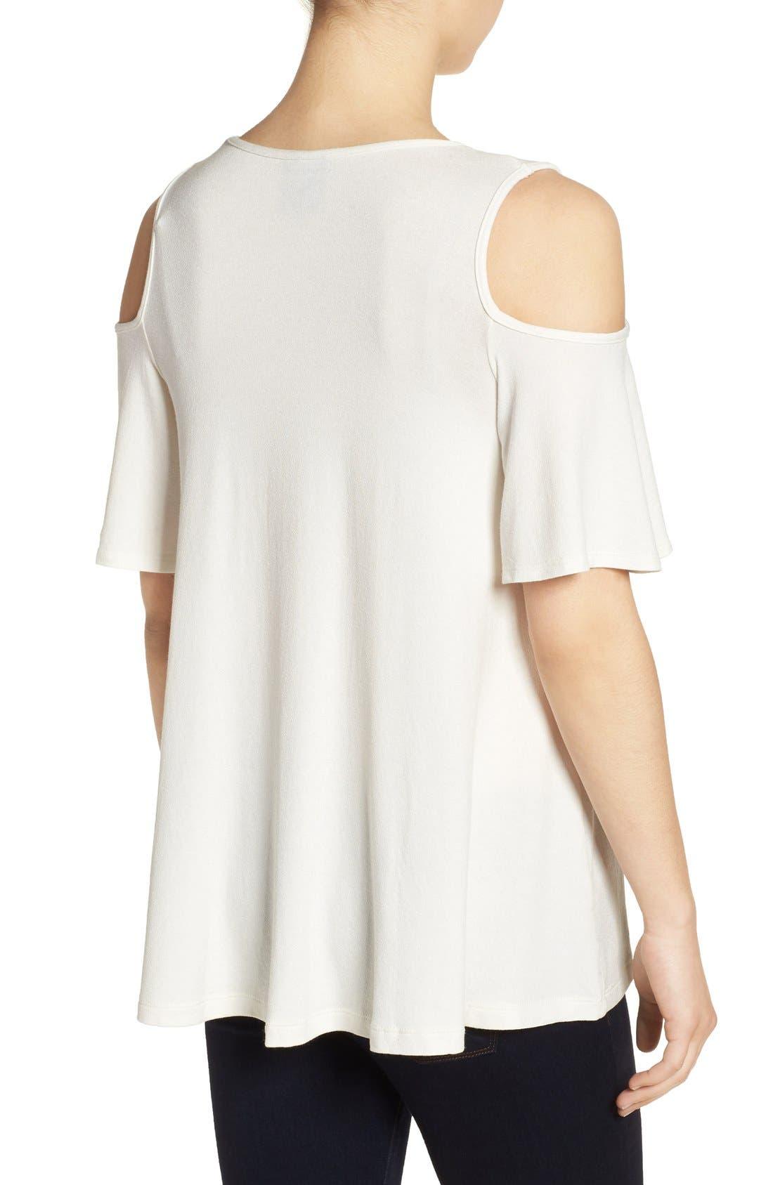 Alternate Image 2  - Bobeau Cold Shoulder Short Sleeve Top