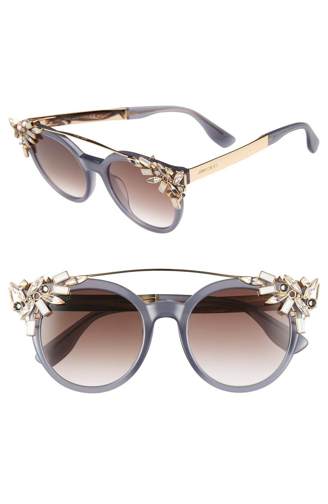 JIMMY CHOO Vivy 51mm Sunglasses