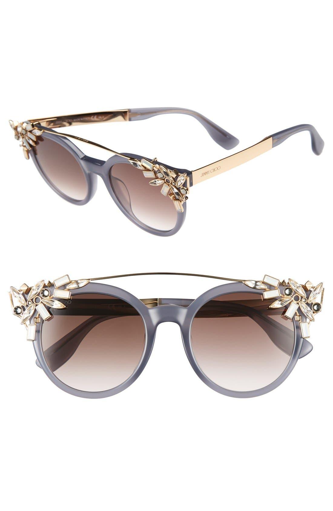 'Vivy' 51mm Sunglasses,                             Main thumbnail 1, color,                             Gray Opal