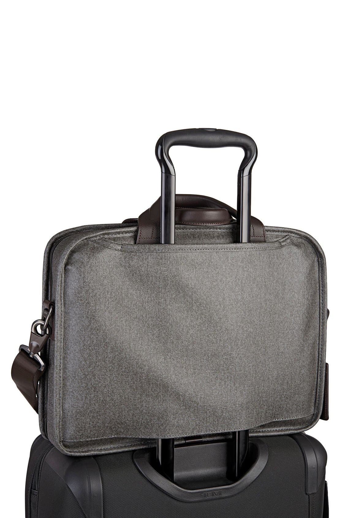 'Alpha 2' T-Pass<sup>®</sup> Coated Canvas Briefcase,                             Alternate thumbnail 3, color,                             Earl Grey