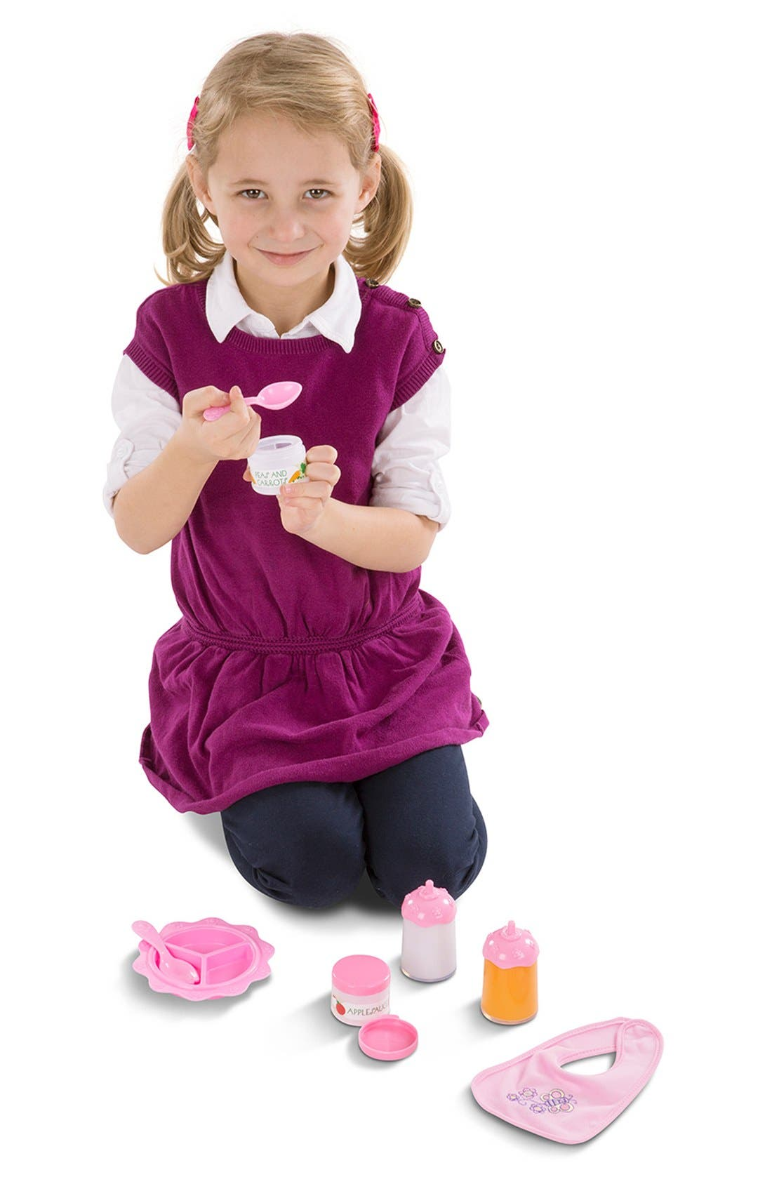 Baby Doll Accessories Set,                             Alternate thumbnail 7, color,                             Pink