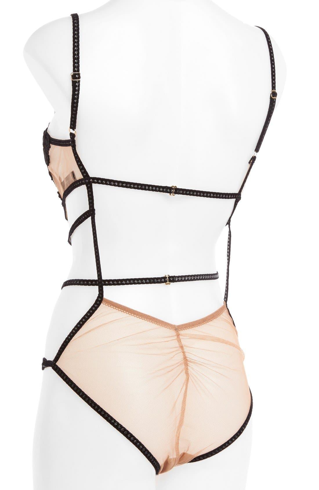 Alternate Image 2  - For Love & Lemons 'Rylee Rose' Strappy Bodysuit