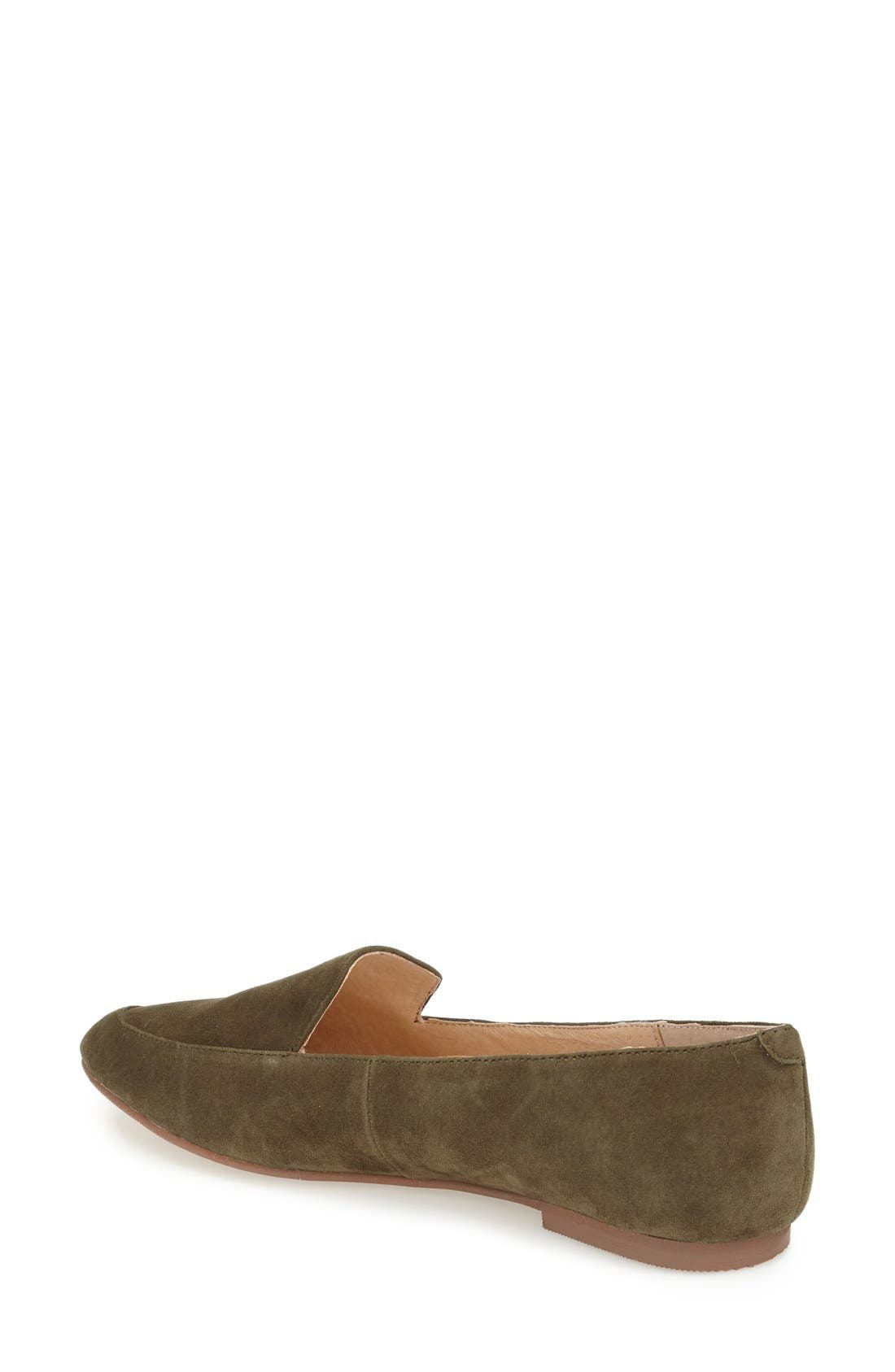 'Chandy' Loafer,                             Alternate thumbnail 2, color,                             Olive Suede