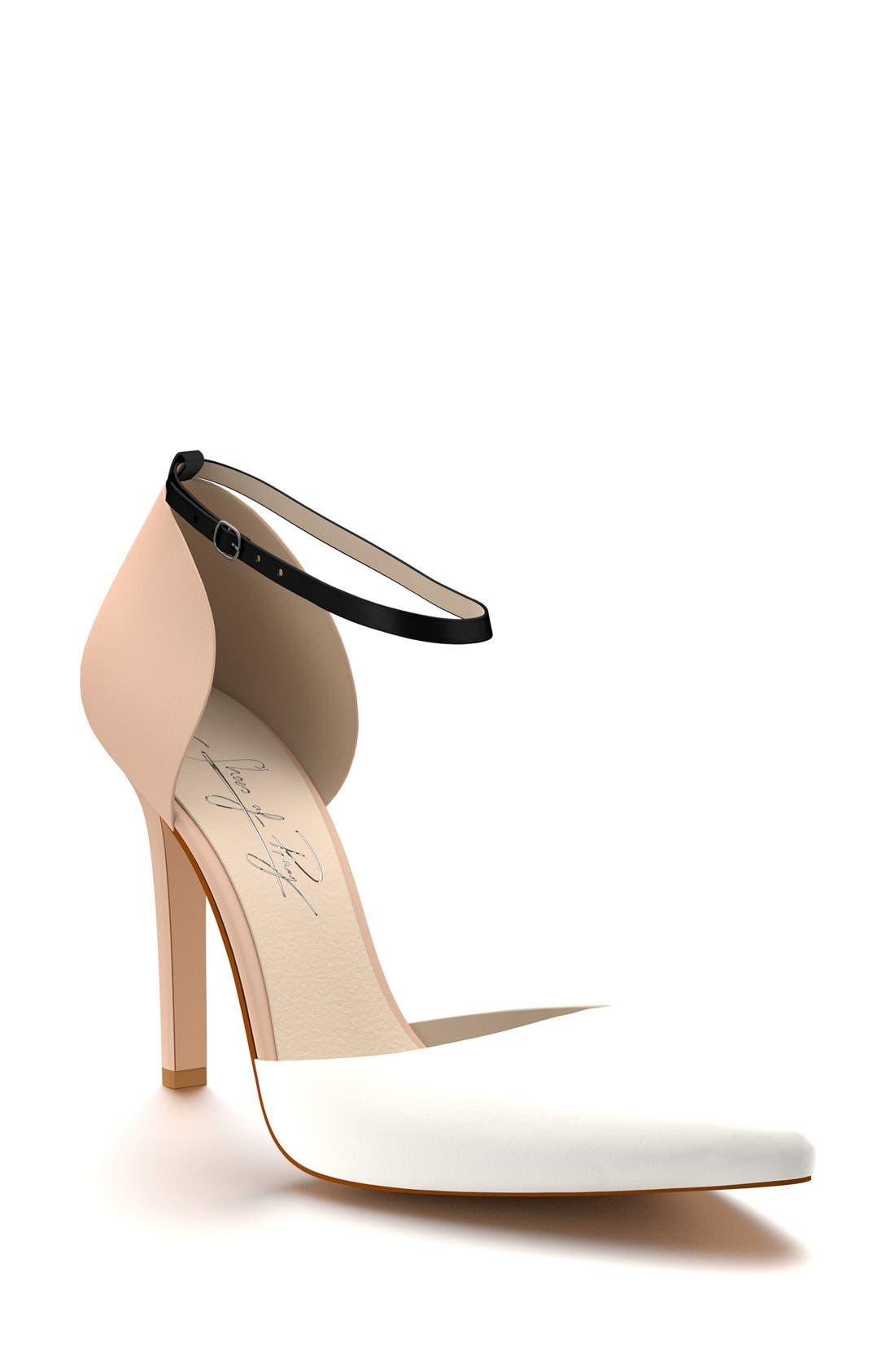SHOES OF PREY dOrsay Ankle Strap Pump