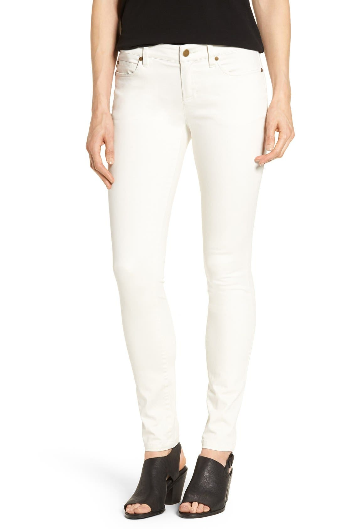 Alternate Image 1 Selected - Eileen Fisher Organic Cotton Sateen Skinny Jeans