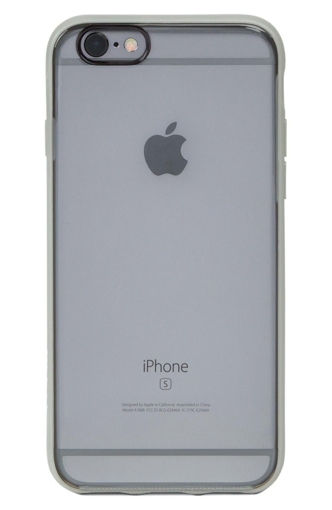 Pop iPhone 6/6s Case,                             Alternate thumbnail 2, color,                             Clear/ Grey