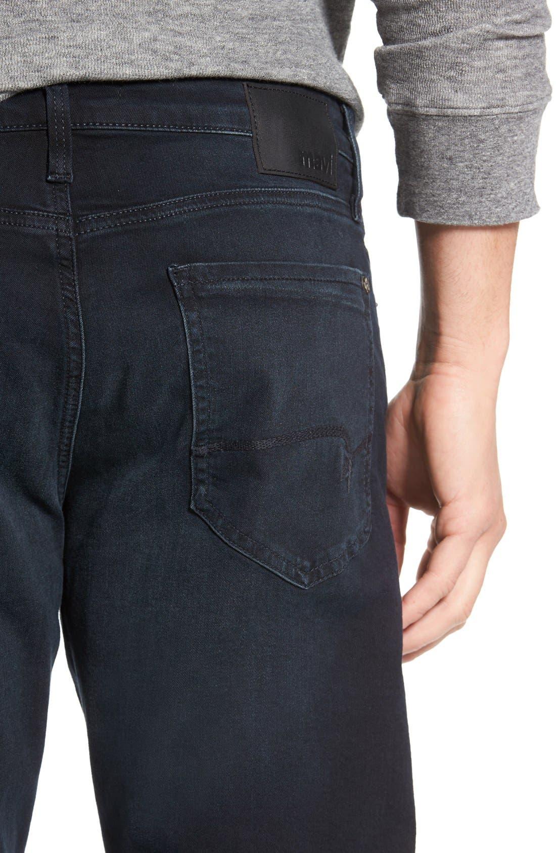 'Myles' Straight Leg Jeans,                             Alternate thumbnail 4, color,                             Ink Brushed Williamsburg