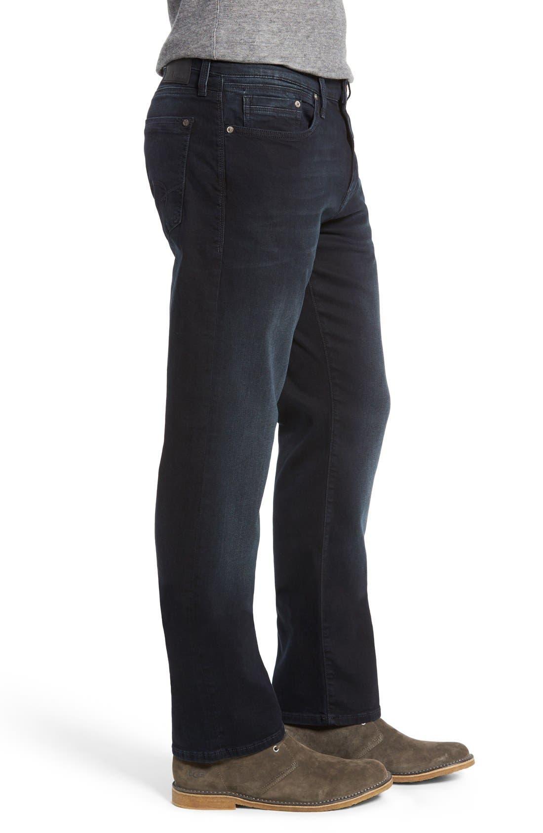 'Myles' Straight Leg Jeans,                             Alternate thumbnail 3, color,                             Ink Brushed Williamsburg