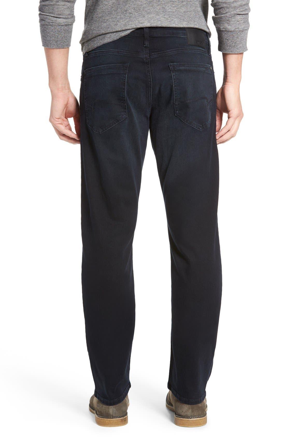 'Myles' Straight Leg Jeans,                             Alternate thumbnail 2, color,                             Ink Brushed Williamsburg