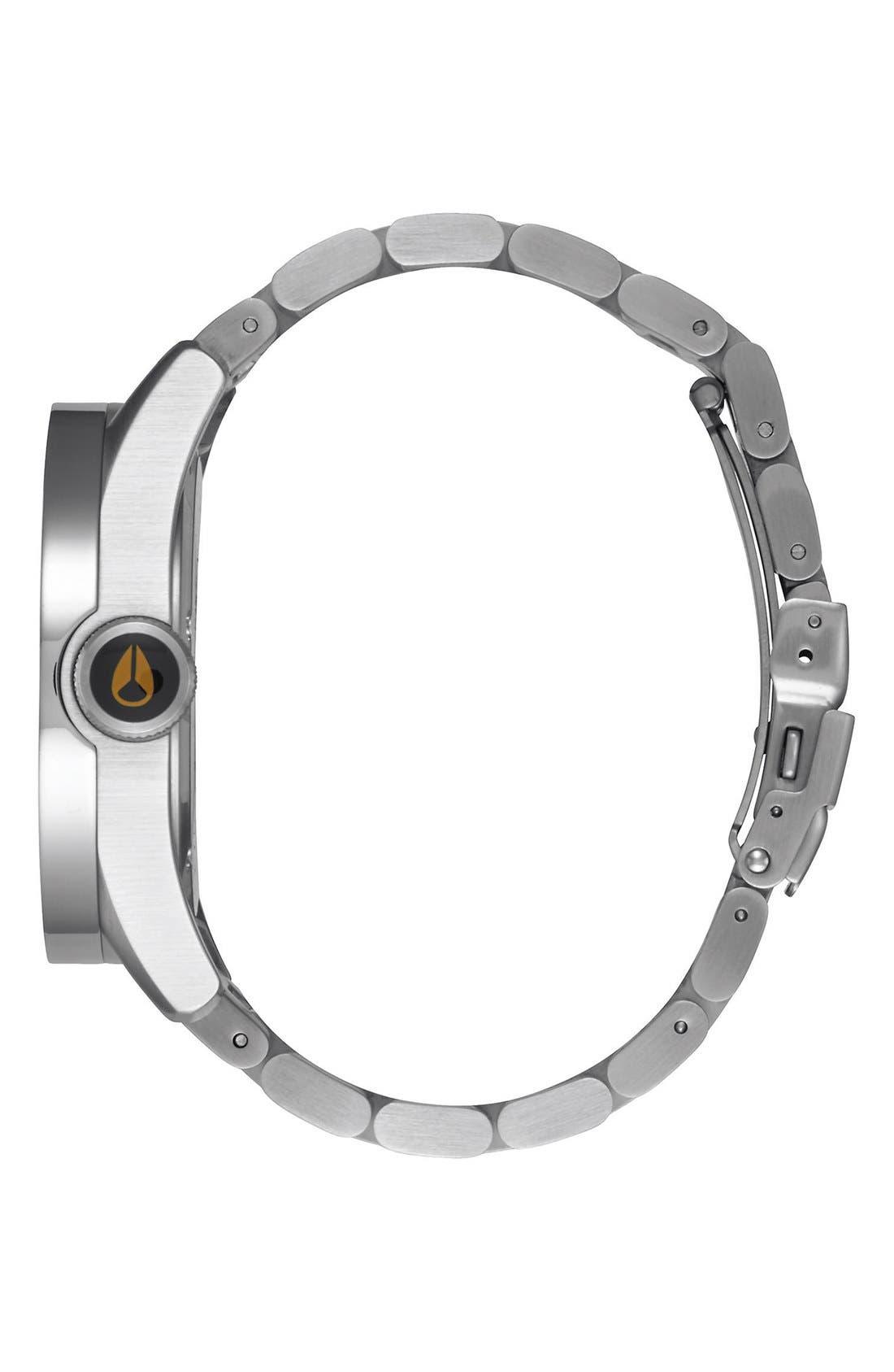 'Safari' Bracelet Watch, 43mm,                             Alternate thumbnail 3, color,                             Silver/ Gunmetal