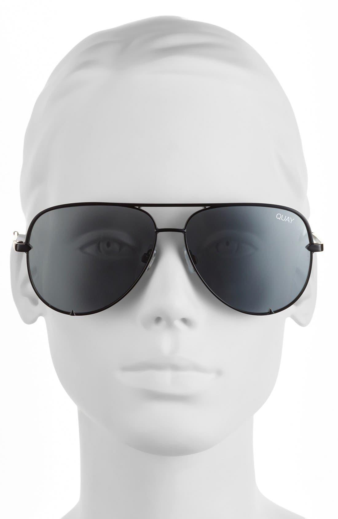 Alternate Image 2  - Quay Australia x Desi Perkins 'High Key' 62mm Aviator Sunglasses