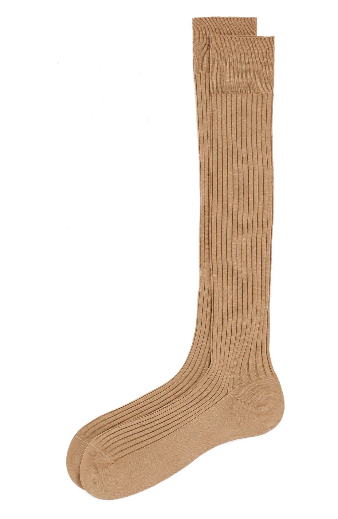 Main Image - Pantherella Cotton Lisle Blend Over the Calf Socks
