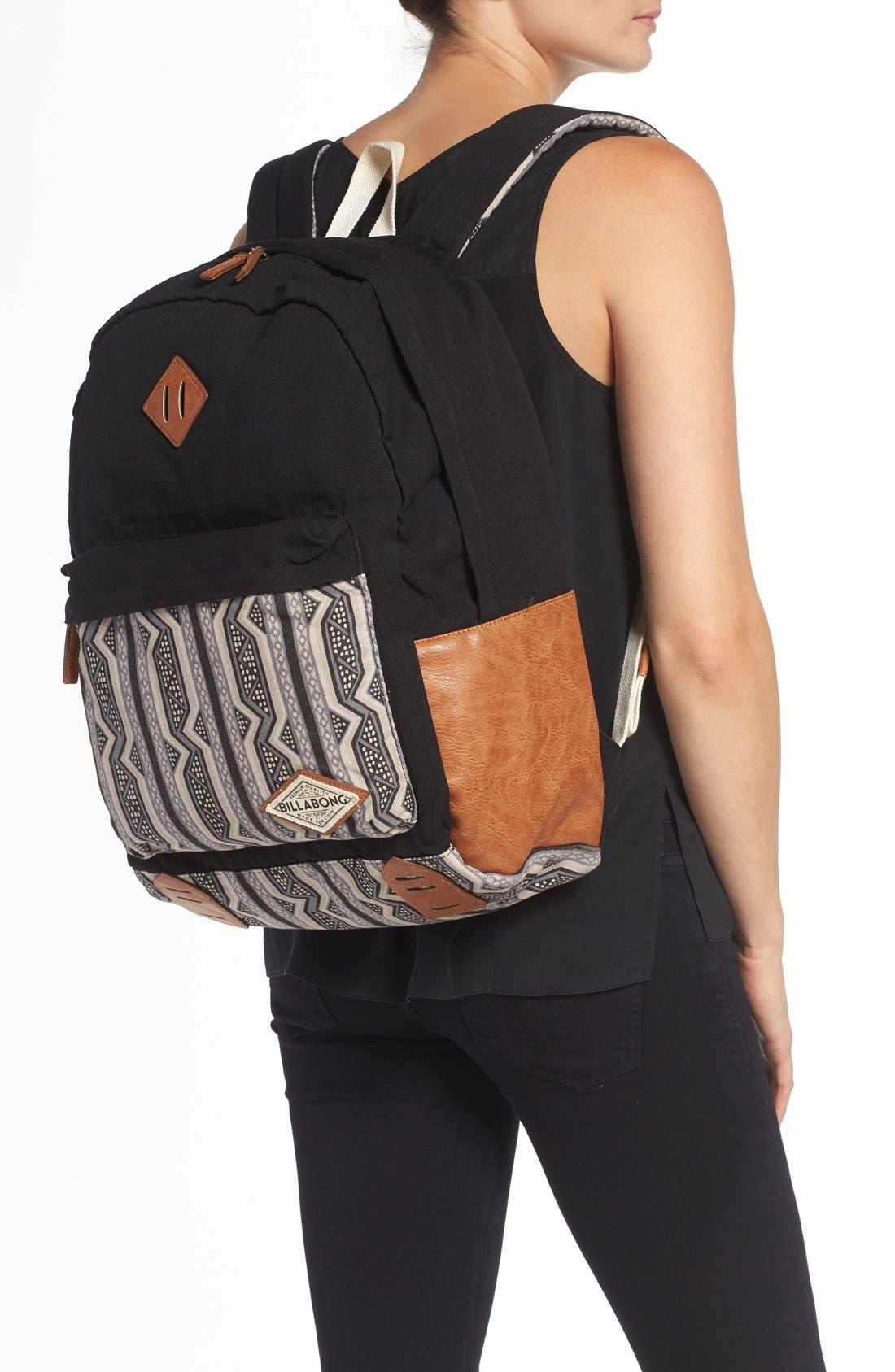 Alternate Image 2  - Billabong 'Hidden Trek' Geo Print Canvas Backpack