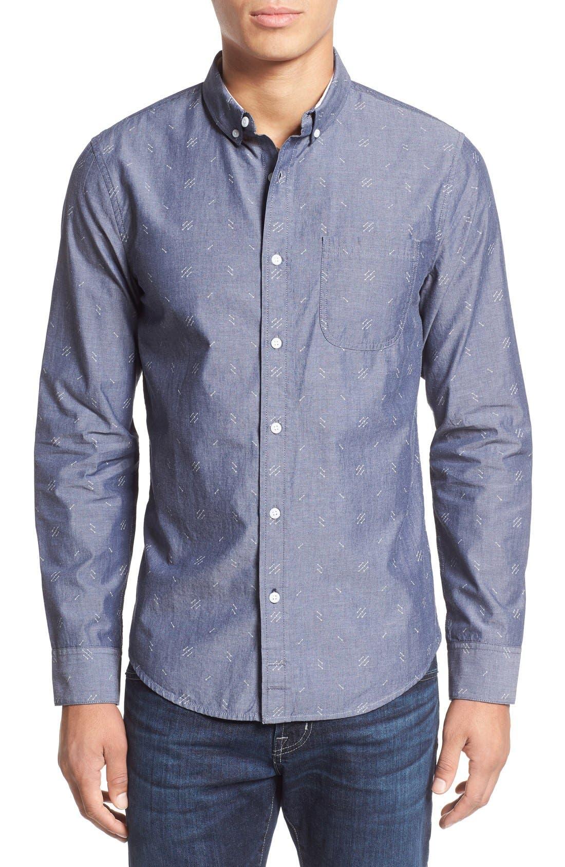 Alternate Image 1 Selected - 1901 'Baker' Slim Fit Arrow Print Woven Shirt