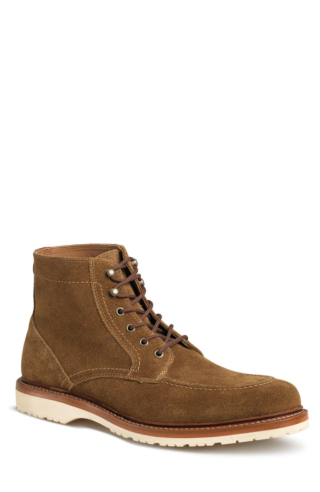 'Andrew Mid' Apron Toe Boot,                         Main,                         color, Whiskey