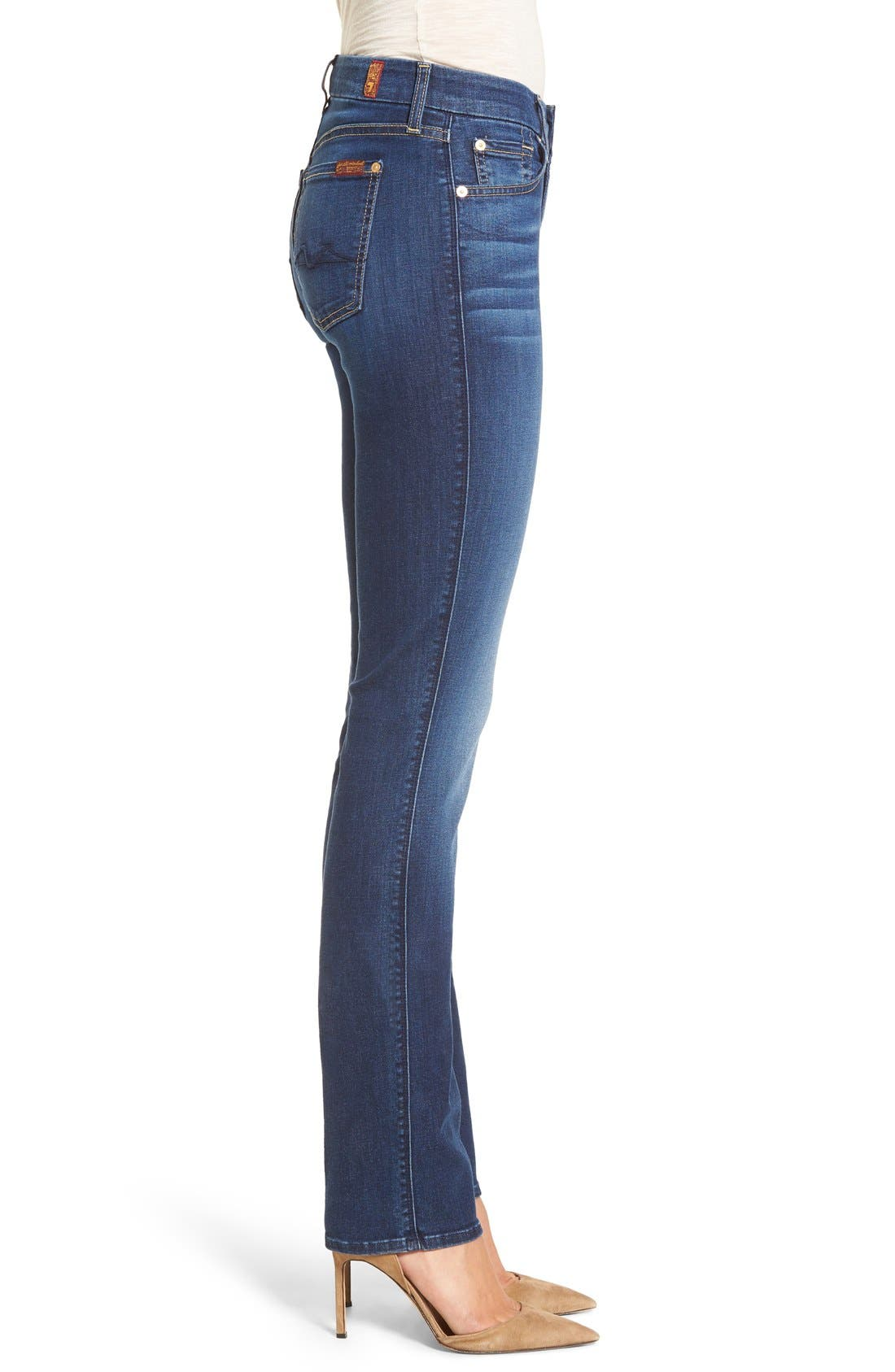 Alternate Image 3  - 7 For All Mankind® 'b(air) - Kimmie' Straight Leg Jeans (Duchess)