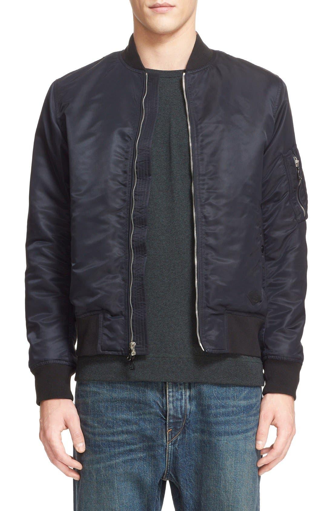 Manston Bomber Jacket,                         Main,                         color, Black