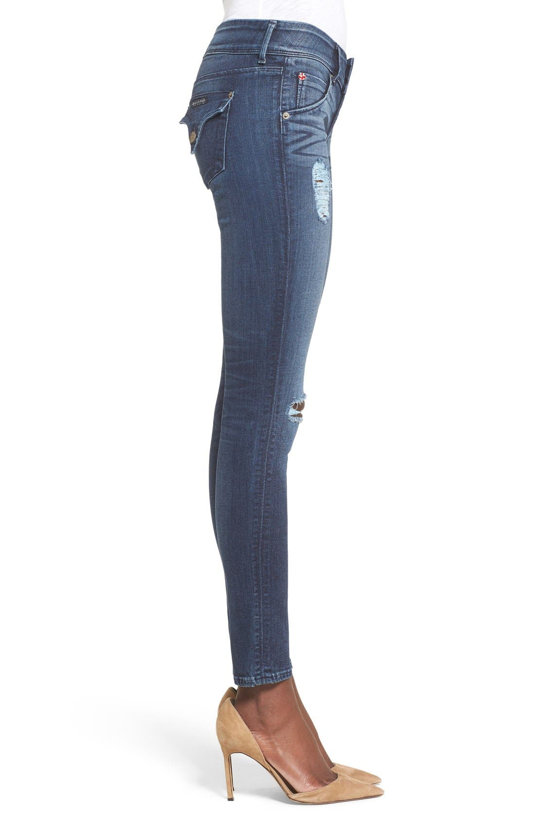 Alternate Image 3  - Hudson Jeans 'Collin' Skinny Jeans (Anchor Light)