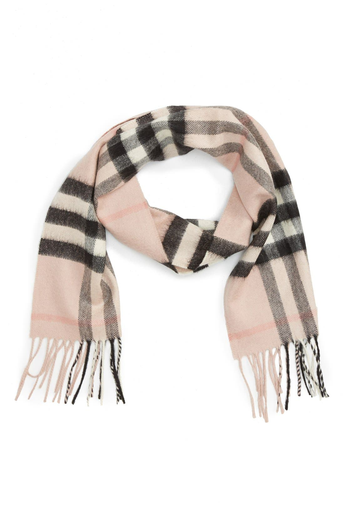 Burberry 'Exploded Check' Cashmere Scarf (Big Girls)
