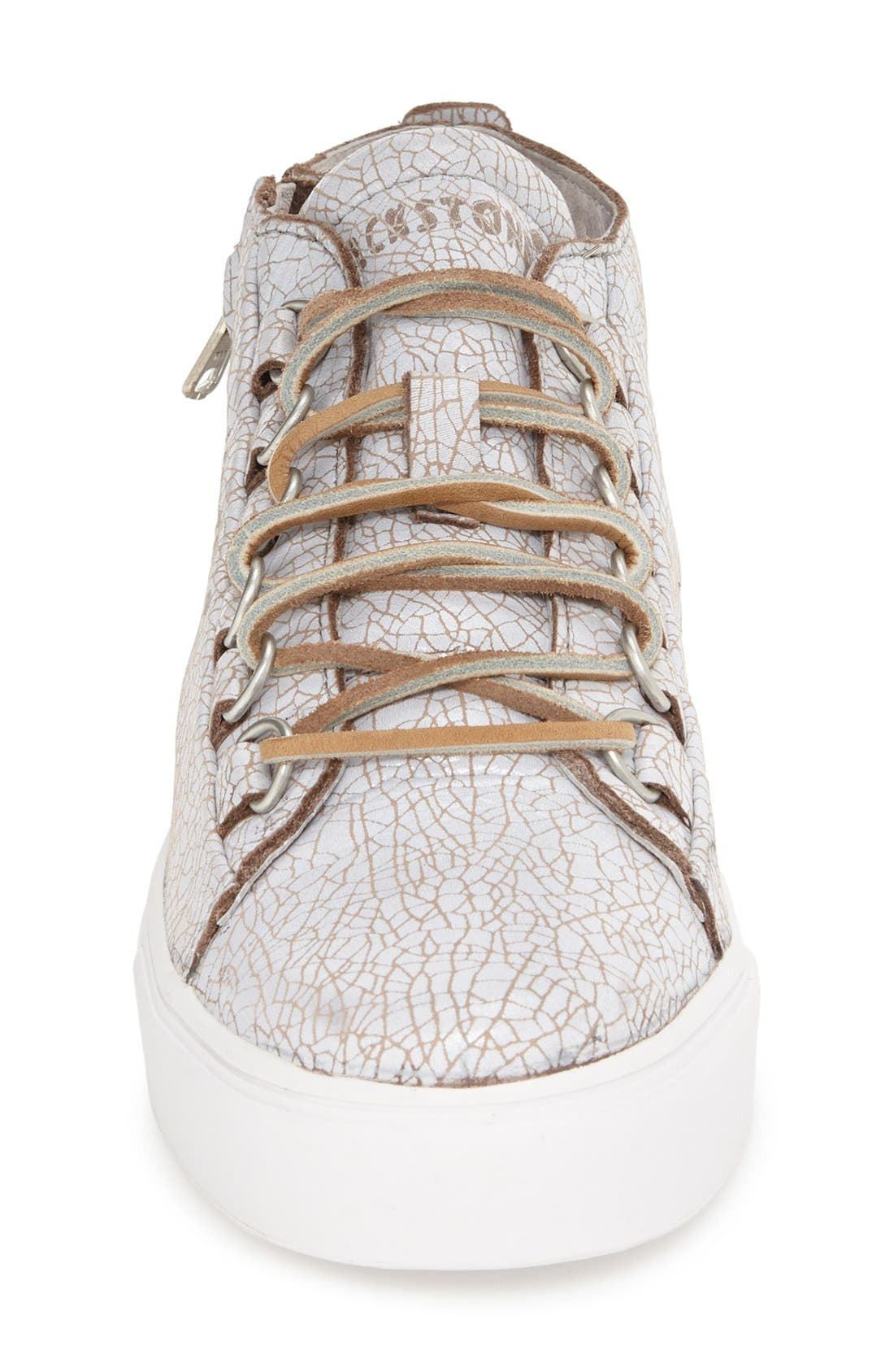 'LL60' Midi Sneaker,                             Alternate thumbnail 3, color,                             Hazel/ White Leather
