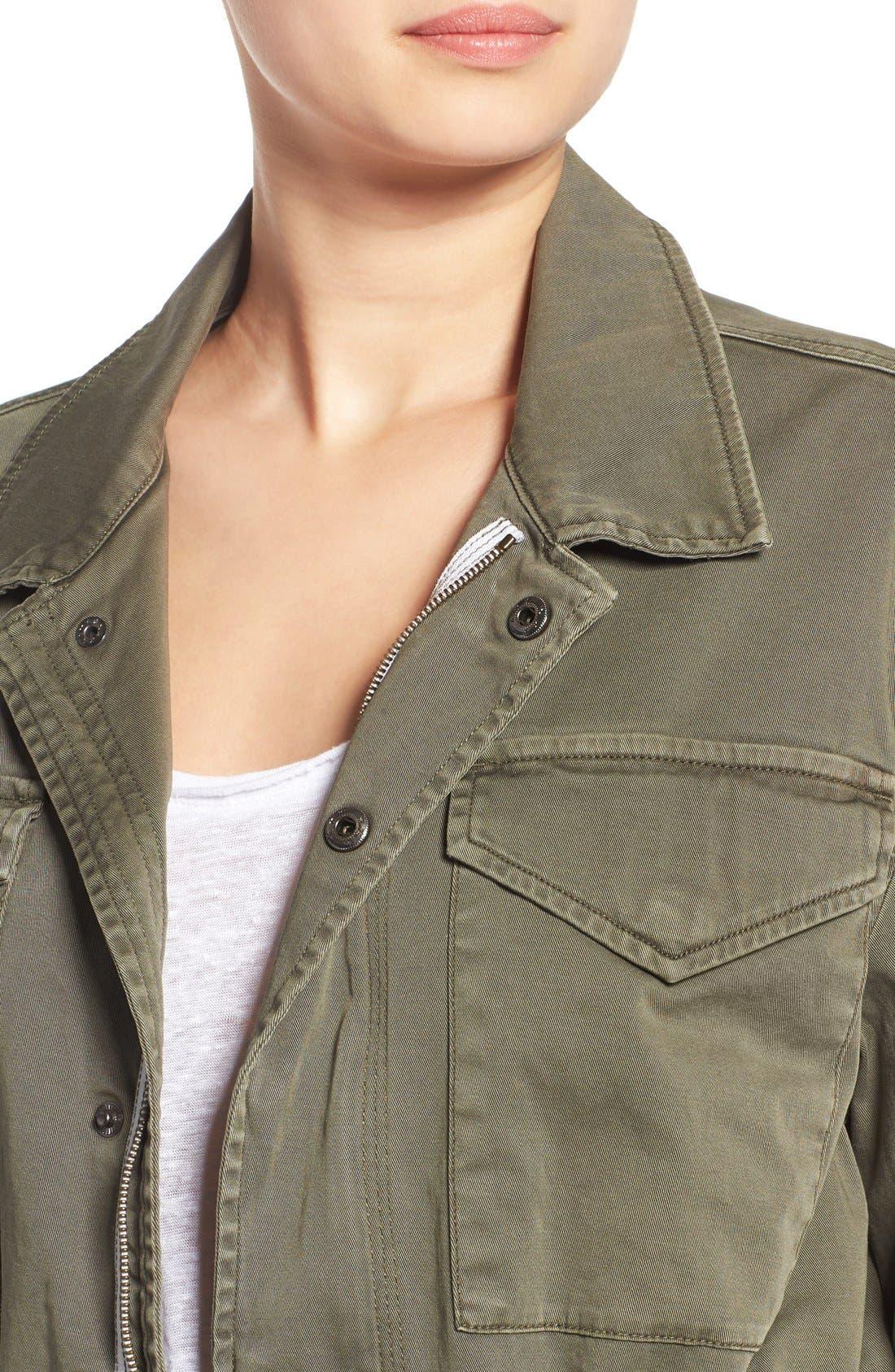 Alternate Image 4  - Hudson Jeans 'Sienna' Stretch Cotton Field Jacket