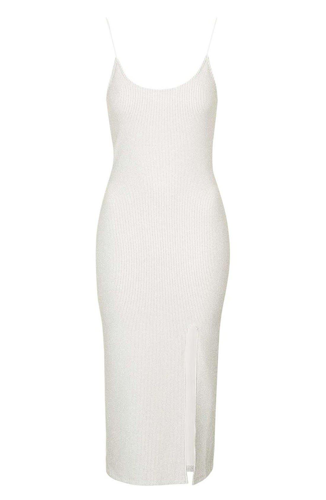 Alternate Image 4  - Topshop Scoop Neck Midi Dress