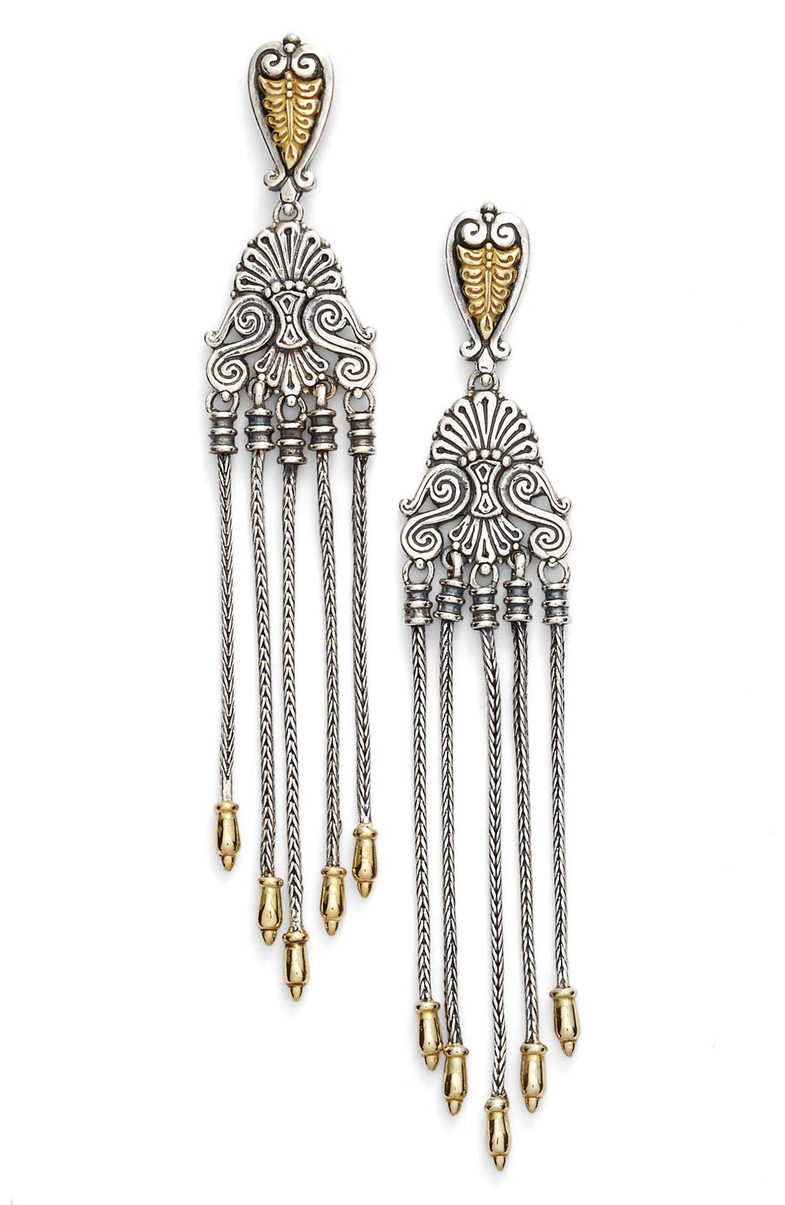 'Penelope' Drop Earrings,                             Main thumbnail 1, color,                             Silver/ Gold