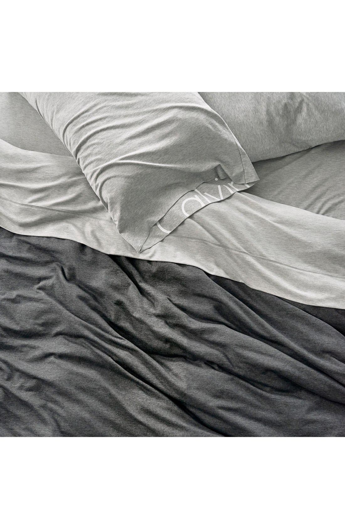 Alternate Image 2  - Calvin Klein Home Modern Cotton Collection Cotton & Modal Fitted Sheet