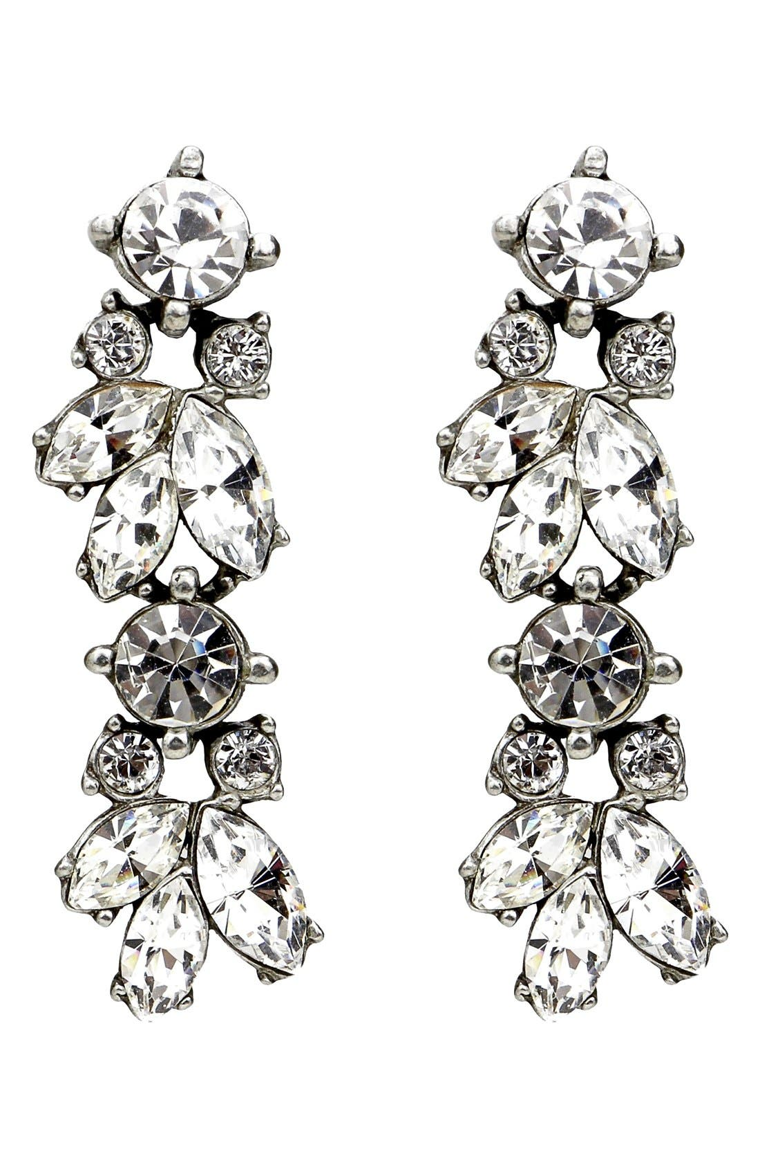 BEN-AMUN Crystal Vine Drop Earrings
