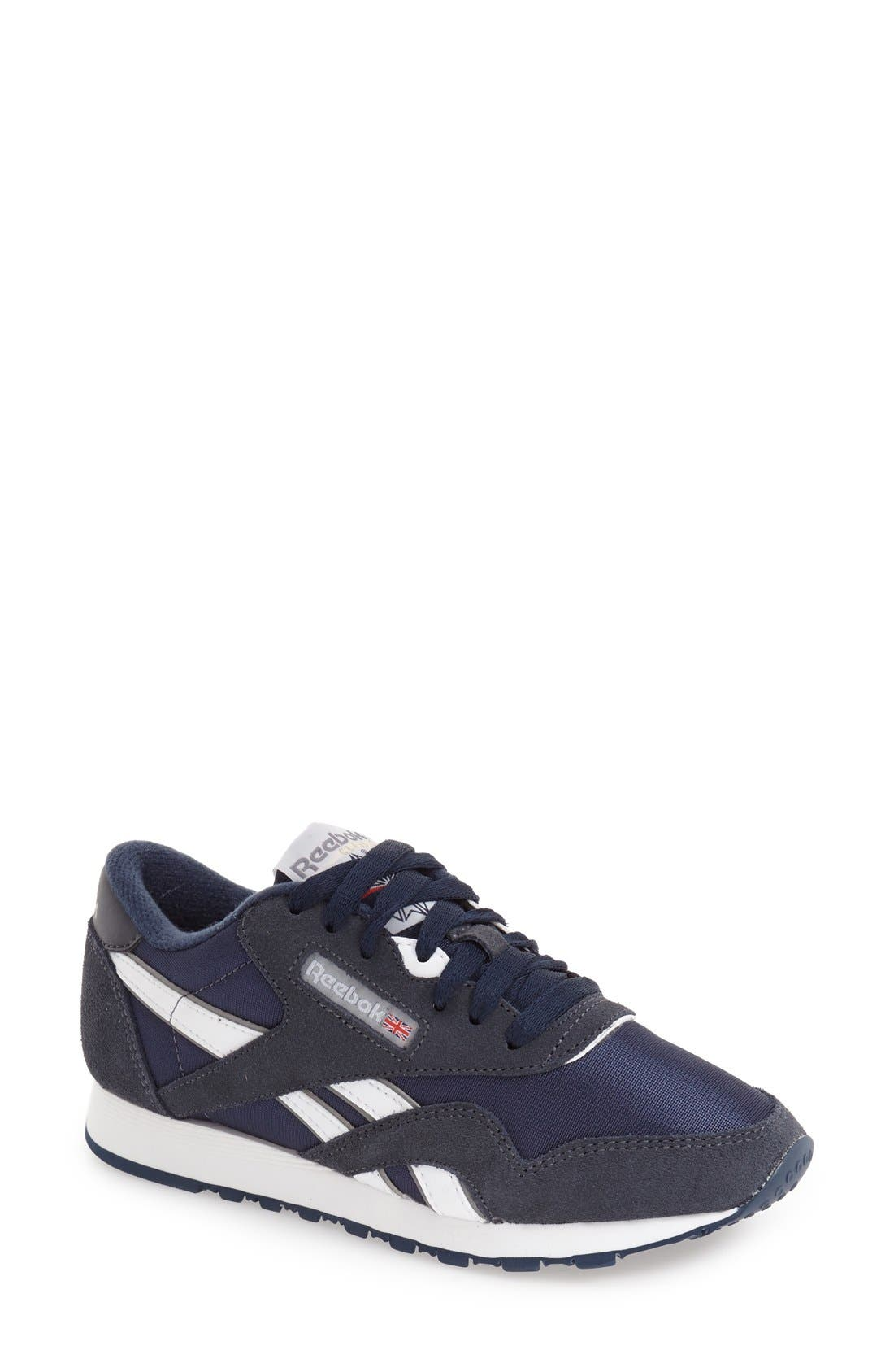 Classic Nylon Sneaker,                             Main thumbnail 1, color,                             Team Navy/ Platinum
