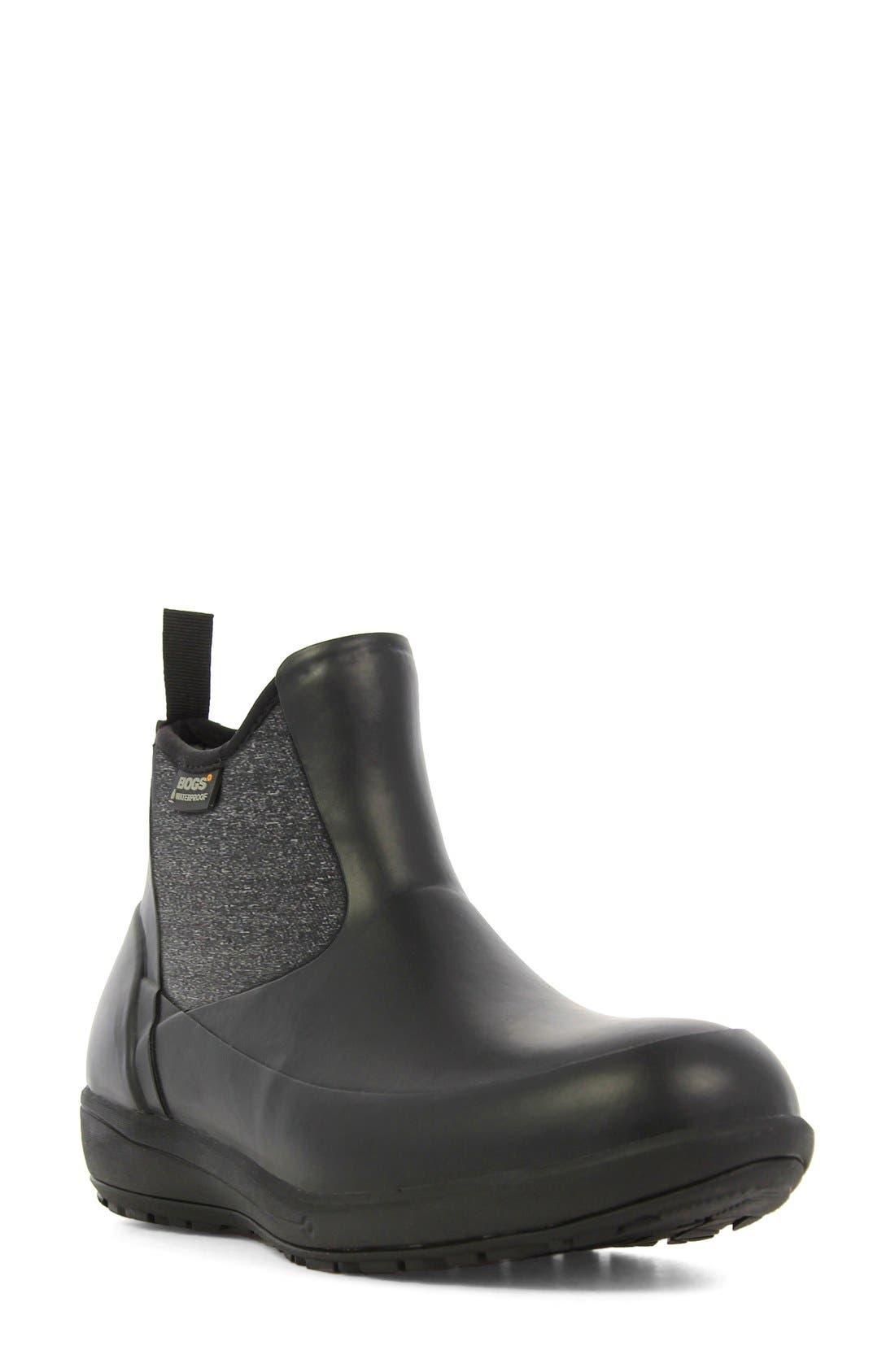 'Cami' Waterproof Short Boot,                             Main thumbnail 1, color,                             Black