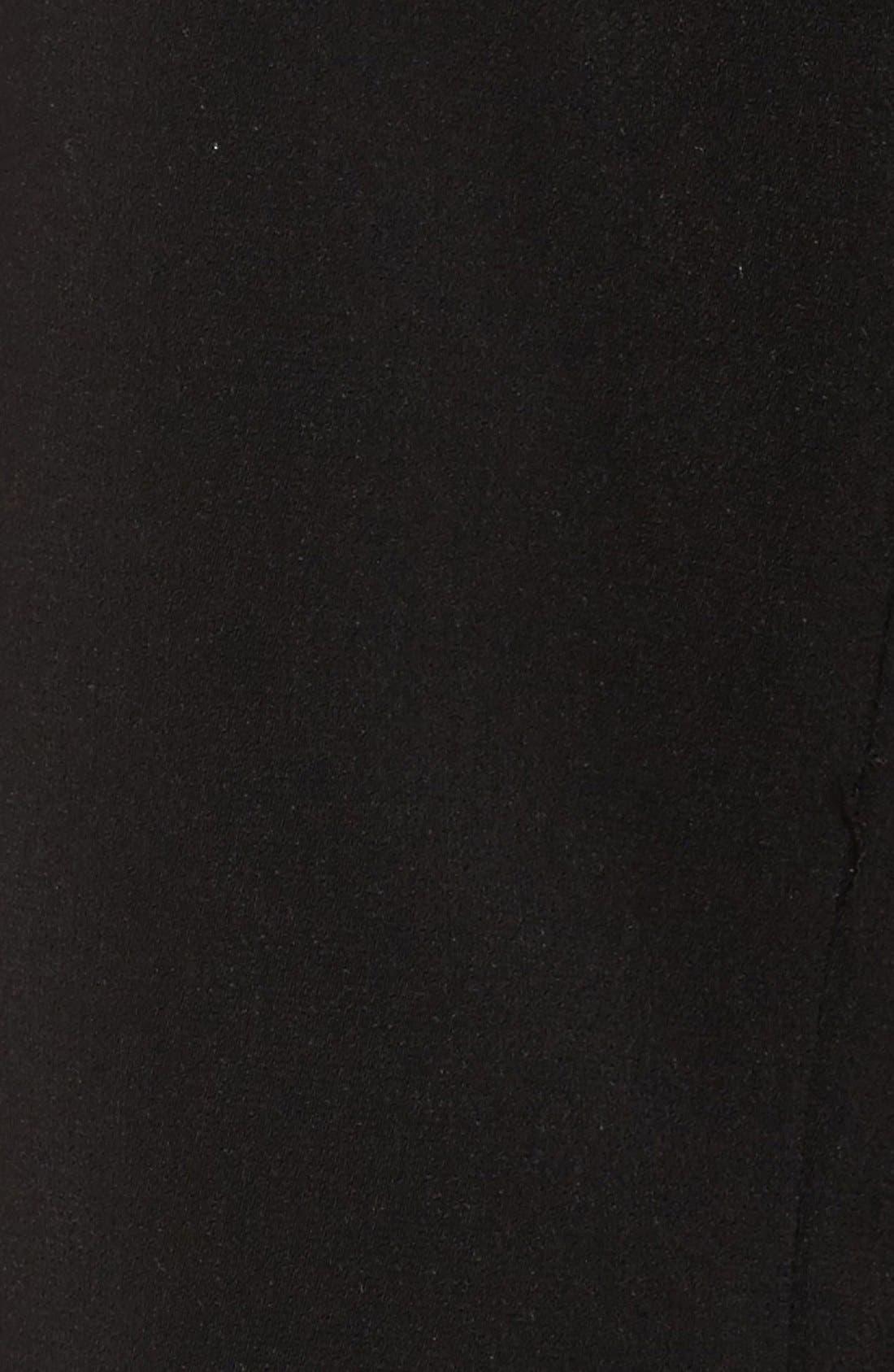 Full Length Hooded Nepage Raincoat,                             Alternate thumbnail 5, color,                             Black