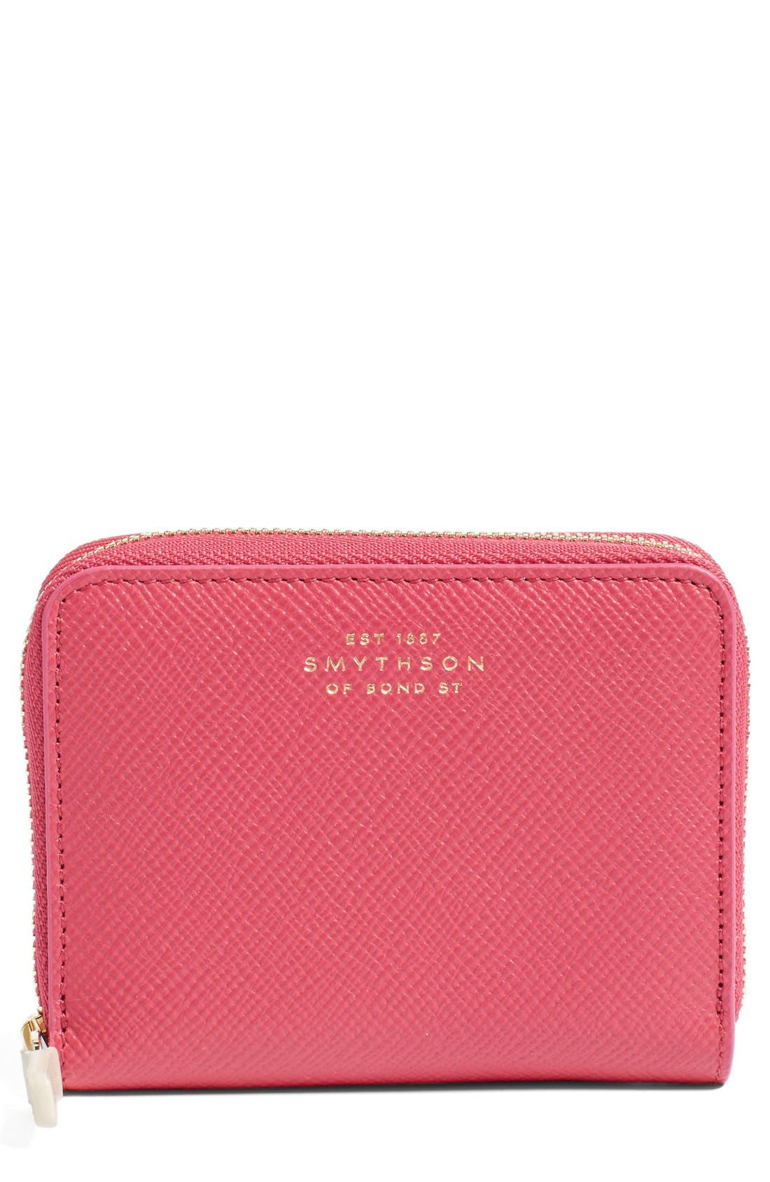 Smythson 'Panama' Leather Coin Case