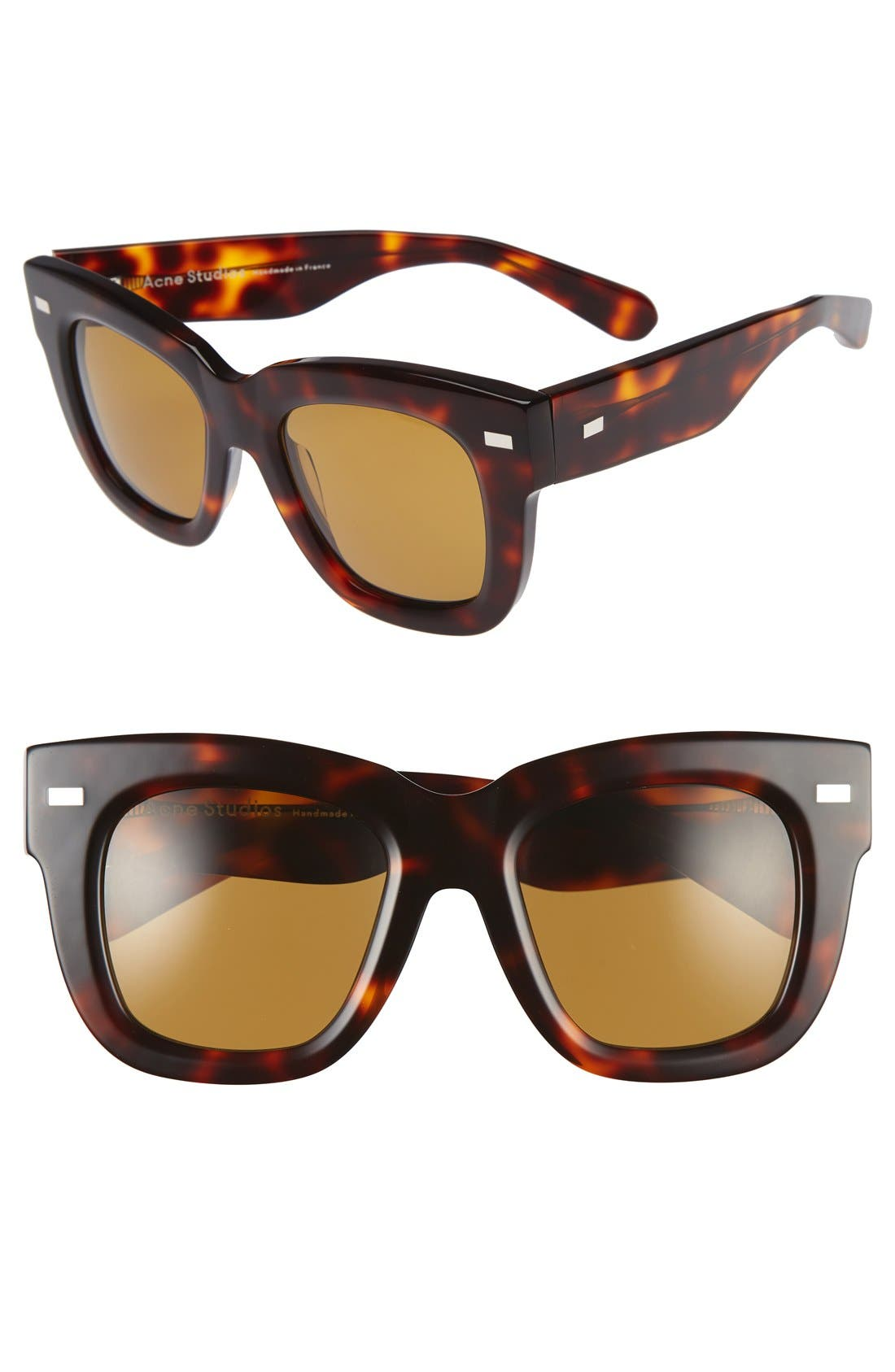 Library 51mm Sunglasses,                             Main thumbnail 1, color,                             Turtle