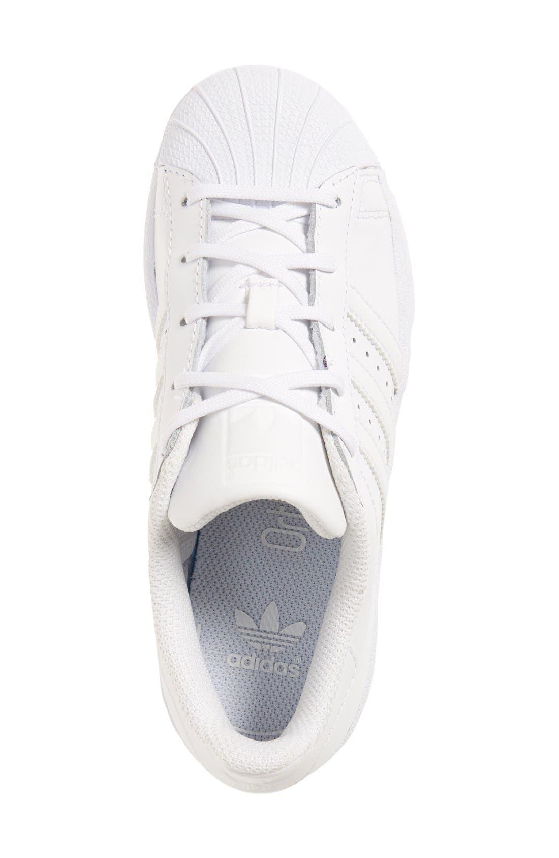 'Superstar Foundation' Sneaker,                             Alternate thumbnail 3, color,                             White/ White