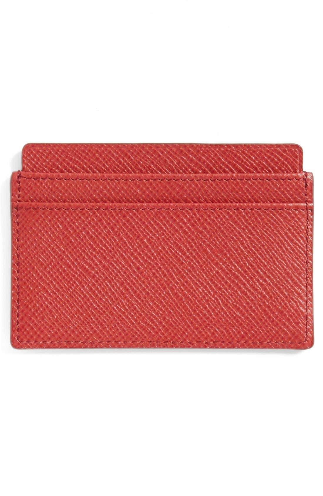 Alternate Image 2  - Smythson 'Panama' Leather Card Case