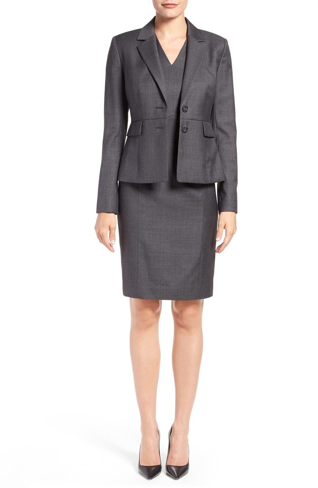 Alternate Image 2  - Classiques Entier® V-Neck Superfine Wool Sheath Dress