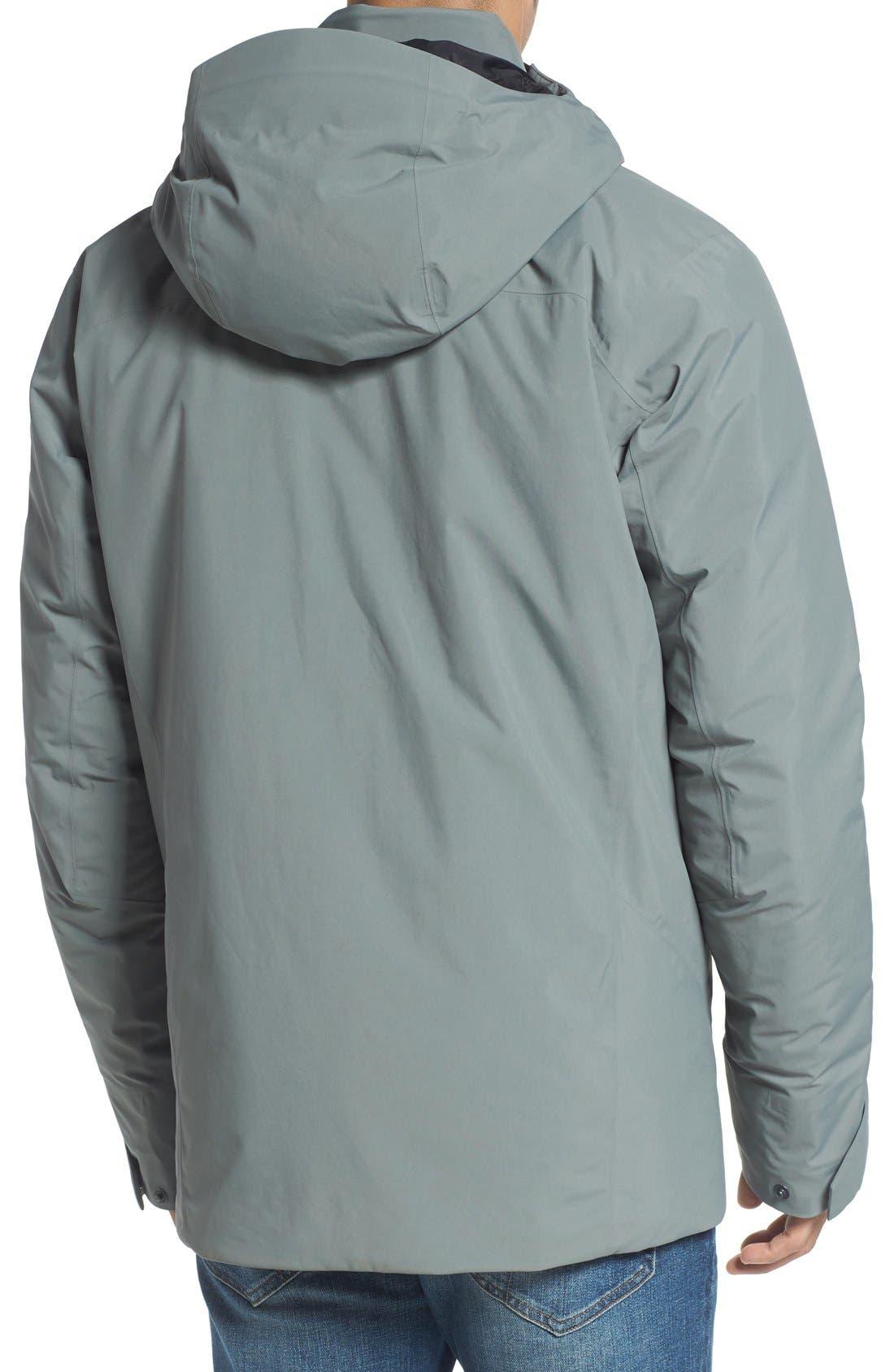 'Koda' Hooded Waterproof Shell Jacket,                             Alternate thumbnail 2, color,                             Autobahn
