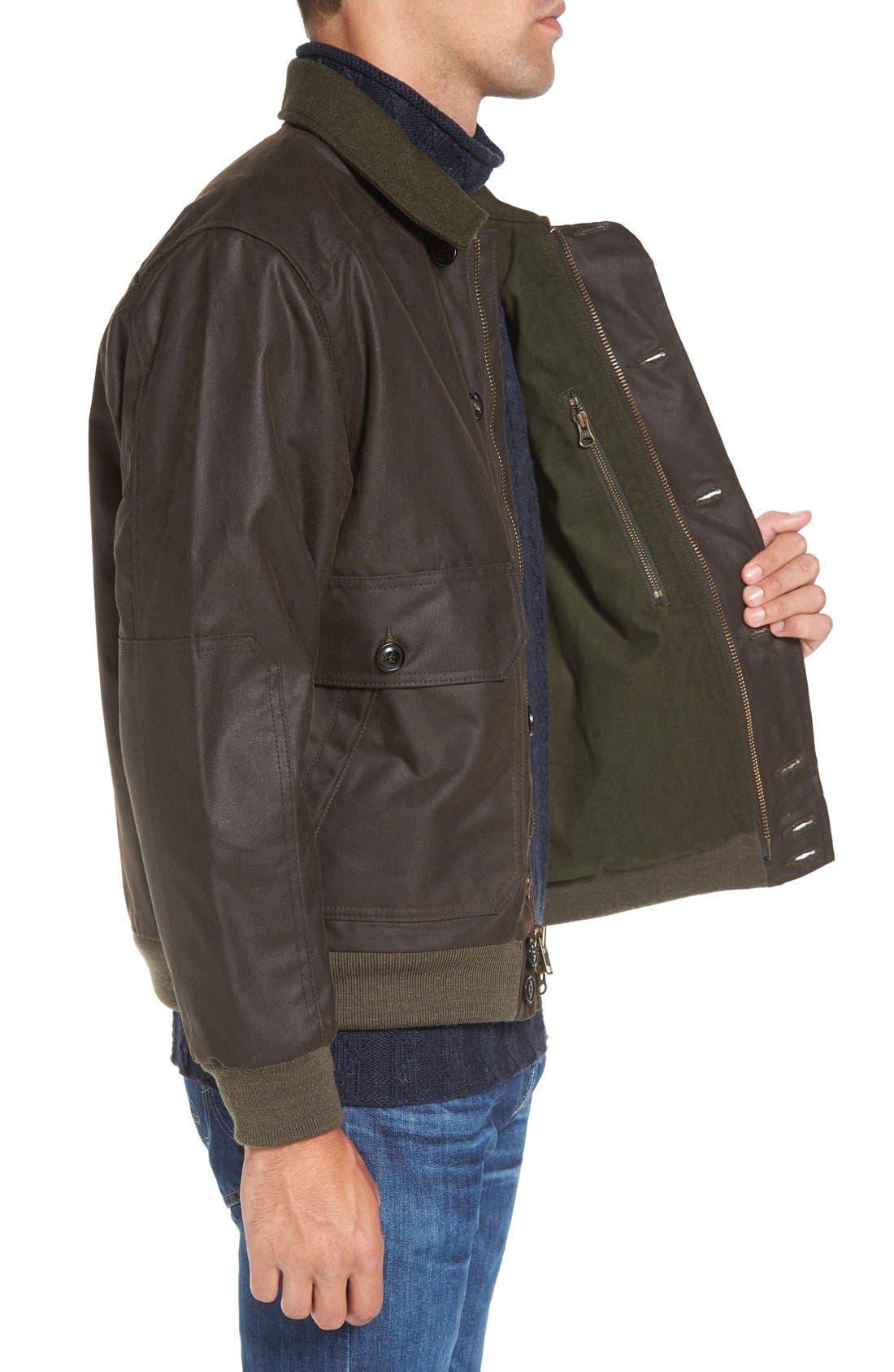 'Ranger' Water Repellent Shelter Cloth Bomber Jacket,                             Alternate thumbnail 3, color,                             Orca Grey