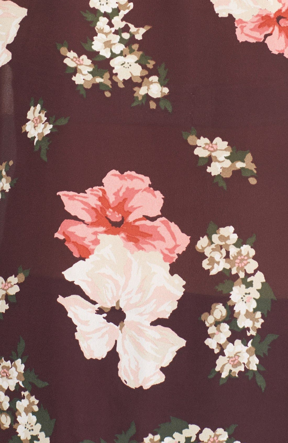Alternate Image 5  - cupcakes and cashmere Floral Print Tie Neck Blouse