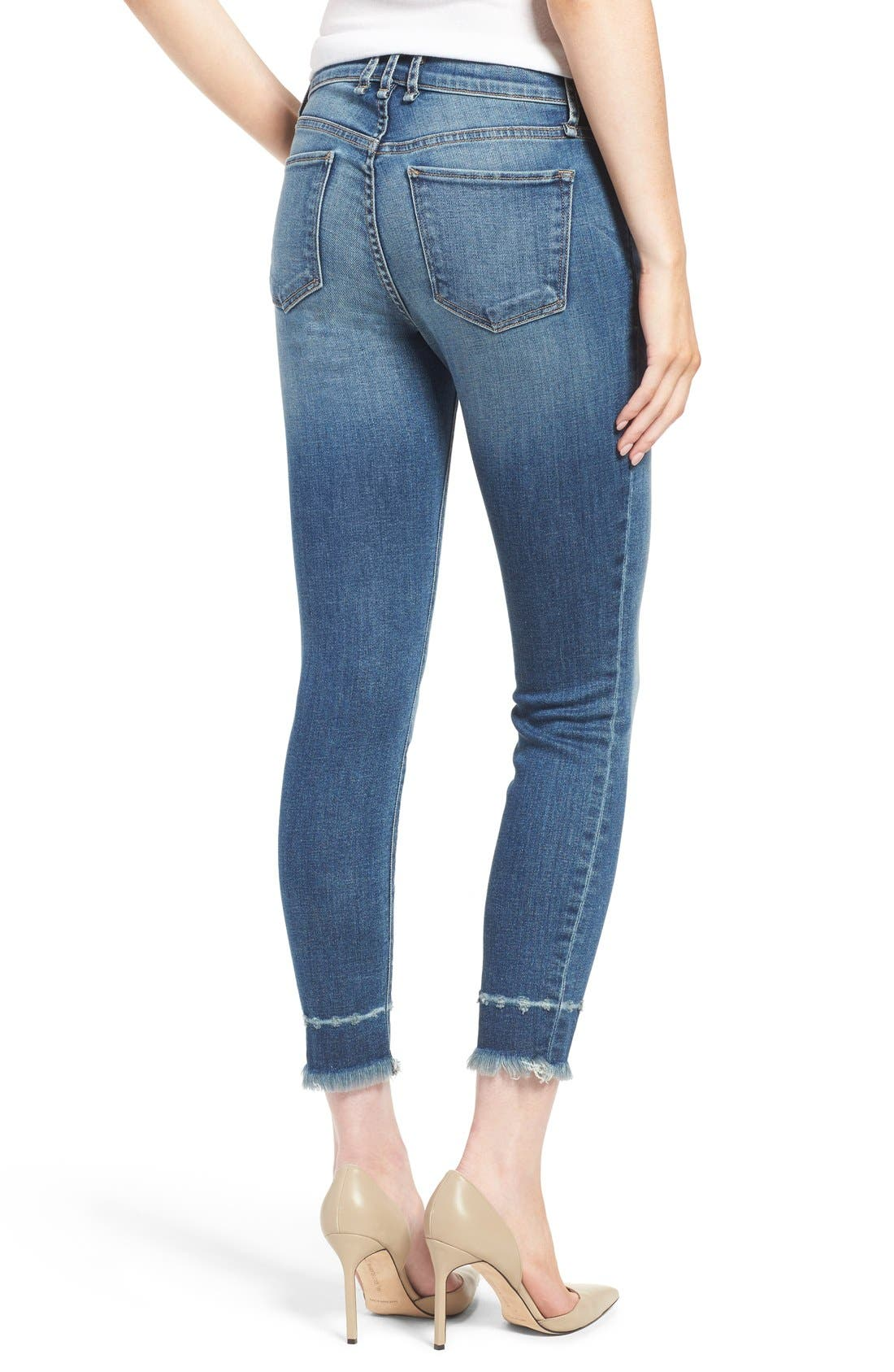 Alternate Image 2  - McGuire 'Newton' Released Hem Crop Skinny Jeans (Iona)