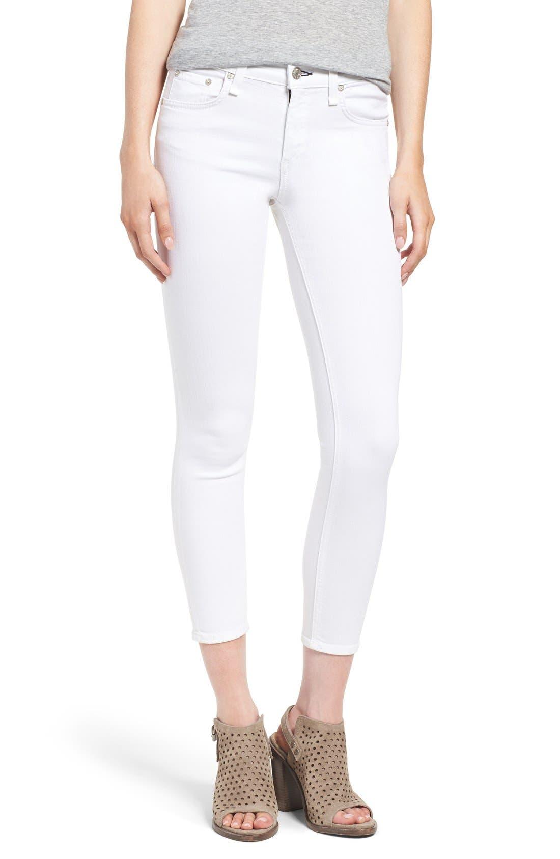Alternate Image 1 Selected - rag & bone/JEAN 'Capri' Skinny Crop Jeans (Bright White)